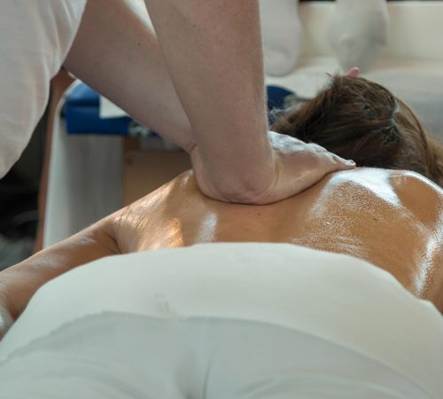 Deep back massage