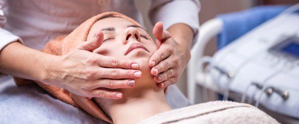 Indian head massage on lady