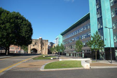 Magazine Square in Leicester